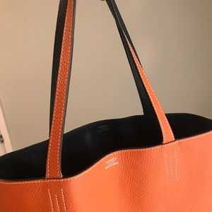 Exclusive Hermès Reversible Leather Tote